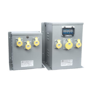Enclosed Transformers for Wall or Floor Mounting with 110V Sockets
