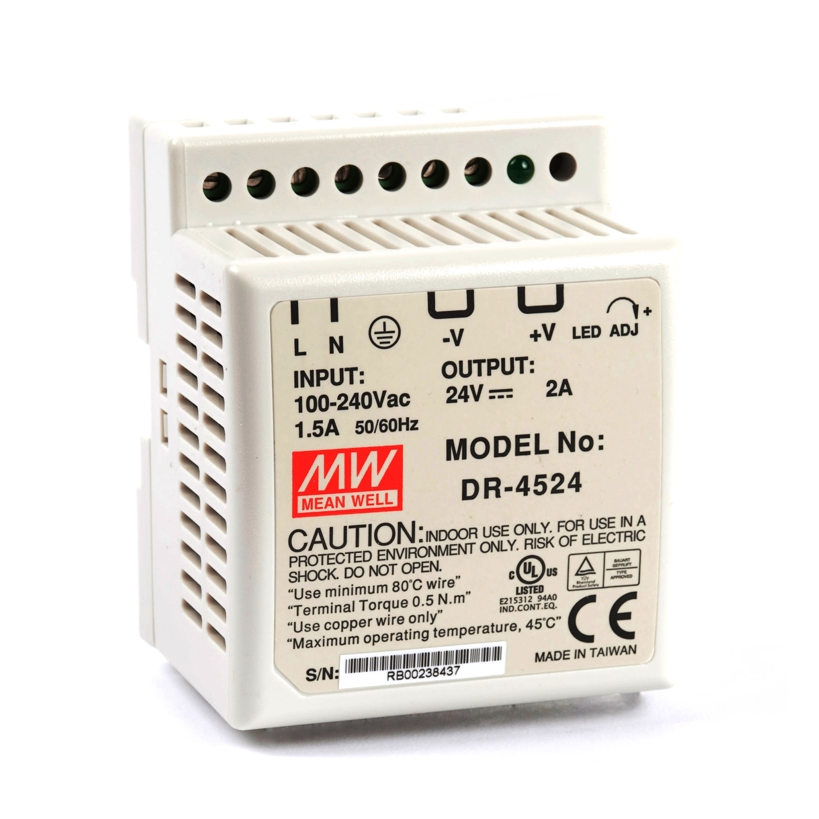 24v Power Supply Meanwellnes 350 Switching Meanwell Sp 320 15 Schematic Smps Circuits Electronic Projects Dr 45 Watt Din Rail Dc 2 0a