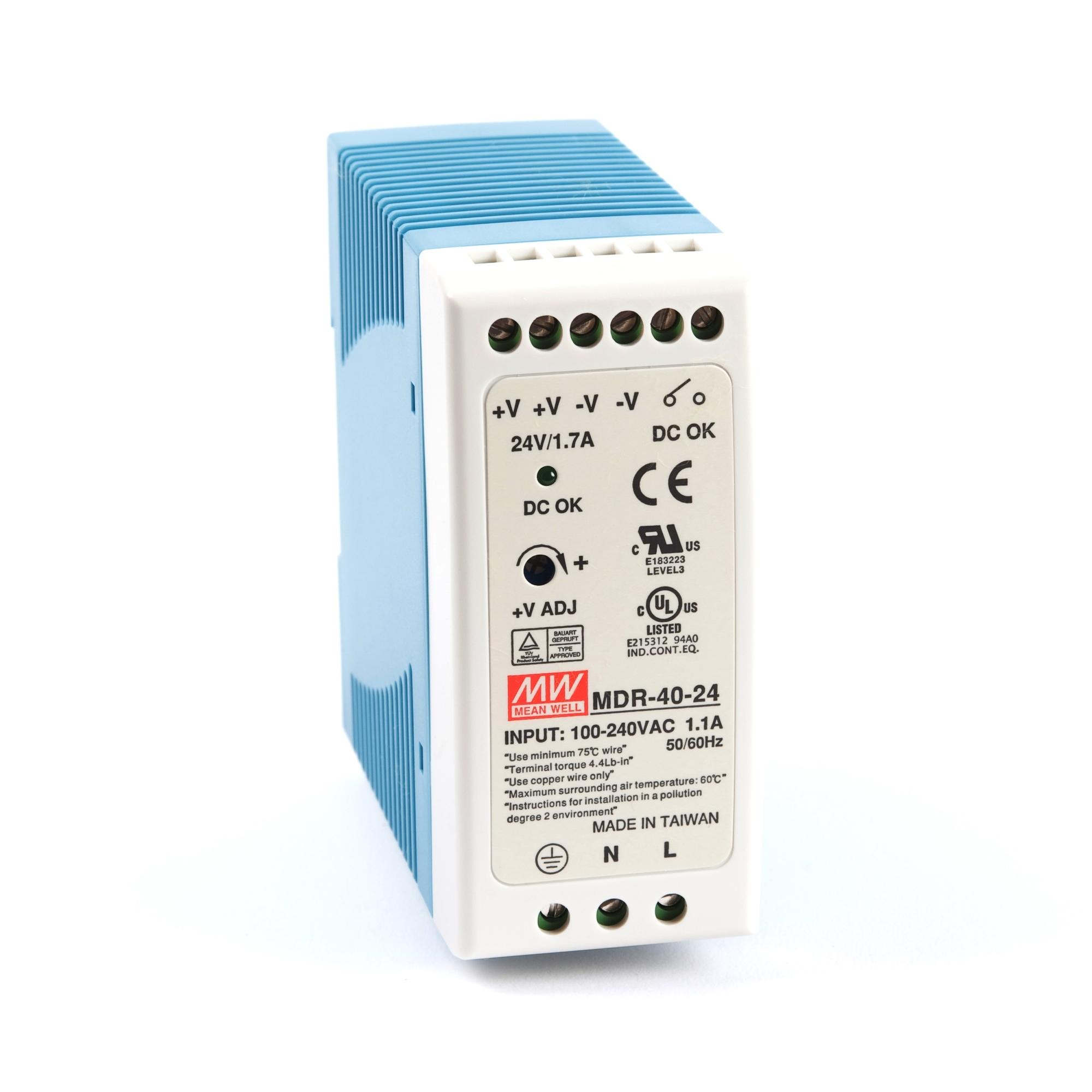 Mdr 40 Watt Miniature Din Rail Power Supply 24v Dc 1 7a