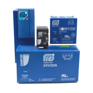 DIN Rail AC to DC Power Supplies with Special Optional Functions