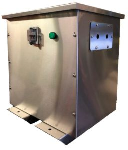 Custom-Built Transformer in Stainless Steel Enclosure